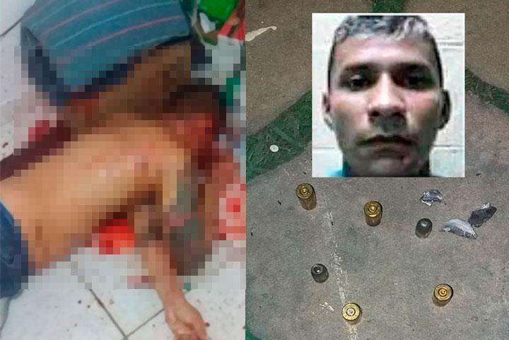 Manaus – Fabrício Noronha da Costa, 34, foi executado com 17 tiros na madrugada desta quinta-feira (2), na rua Carandá, comunidade Ismail Aziz, bairro Tarumã, Zona Oeste de Manaus. Ele era ex-presidiário e estava acompanhado da esposa no momento do crime. Ninguém foi preso.   De acordo com a equipe da Delegacia Especializada em Homicídios e Sequestros (DEHS), três homens invadiram o imóvel da vítima após cortar uma corrente e arrombar a fechadura da porta com tiros.   Ao entrar na casa, por volta das 4h, os assassinos efetuaram vários disparos de arma de fogo à queima-roupa contra Fabrício, que morreu na hora. Os tiros acertaram as regiões da cabeça, peito, abdômen e pernas.   A mulher da vítima não sofreu ferimentos. O trio fugiu em um carro, de características não reconhecidas. No local, várias cápsulas de pistola calibre 380 milímetros foram recolhidas.   Conforme as análises dos peritos criminais do Departamento de Polícia Técnico-Científica (DPTC), a vítima ainda tentou impedir com uma cama e outros móveis que os assassinos entrassem na residência, mas sem sucesso.   Durante o levantamento, a polícia constatou que Fabrício tinha dois mandados de prisão em aberto por homicídio e havia sido preso por tráfico de drogas. O homem morava no imóvel há 12 dias e passava o dia trancado até ser encontrado pelos pistoleiros.   Para a polícia, o crime pode ter sido motivado por acerto de contas em decorrência da vida pregressa da vítima. O corpo foi removido pelo Instituto Médico Legal (IML) e o caso será investigado pela DEHS.